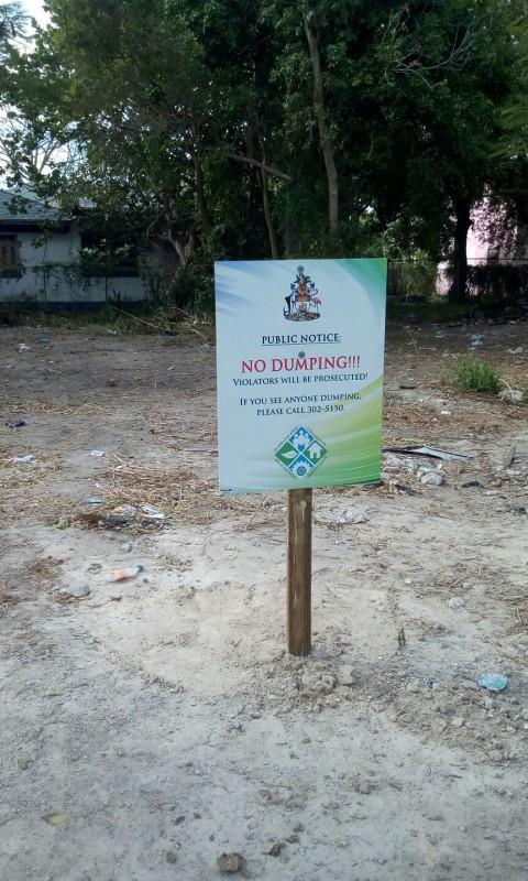 No Dumping Signage